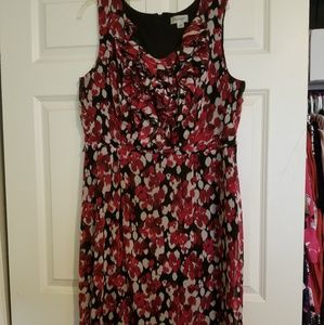 Avenue Dress, Black & Red, Size 16